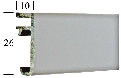 SOFT RUNNING RAIL BLANC (6 M)
