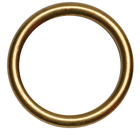 / RING MESSING HOL 11 X 16 MM (100 STKS)