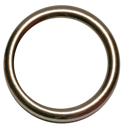 RING MESSING HOL VERNIKKELD 13 X 18 MM (100 STKS)